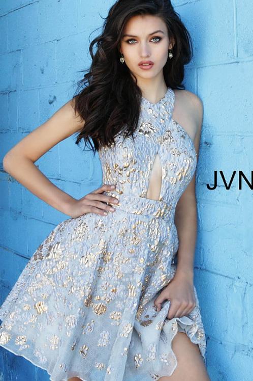 JOVANI Gold Brocade Short Dress