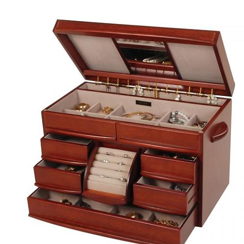 Walnut Finish Wooden Jewelry Box