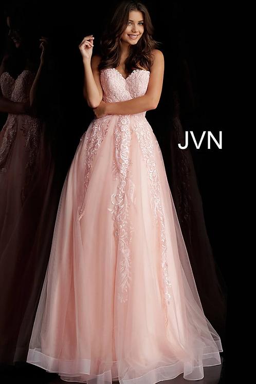 Jovani Blush Embroidered Strapless Prom Ballgown JVN66970