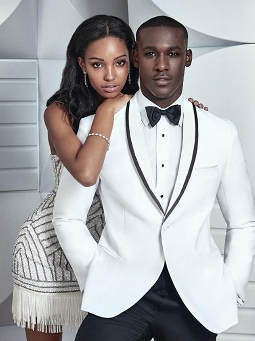 The Bond Look White 'Waverly' TuxedoSlim Fit