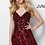 Thumbnail: JOVANIBurgundy Sequin Fit and Flare Homecoming DressJVN65805