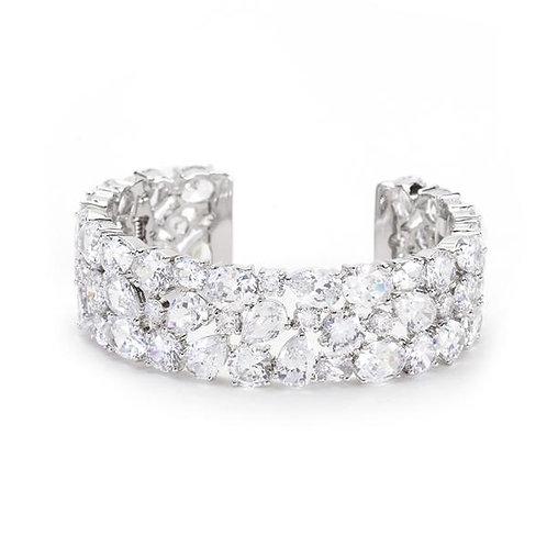 Bejeweled Cubic Zirconia Cuff