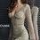 Thumbnail: JOVANI Gold Fully Embellished Long Sleeve Cocktail Dress   61784