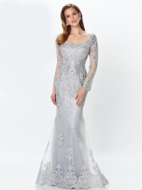 Montage by Mon Cheri Detachable Sleeve Evening Dress