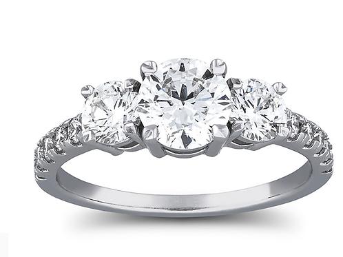 3-Stone1 1/3 Carat Diamond14k Gold Diamond Ring