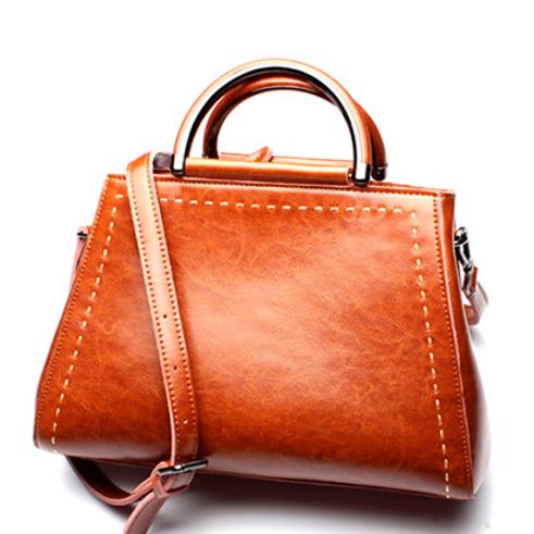 MIGNON MANLEY LEATHER SHOULDER BAG