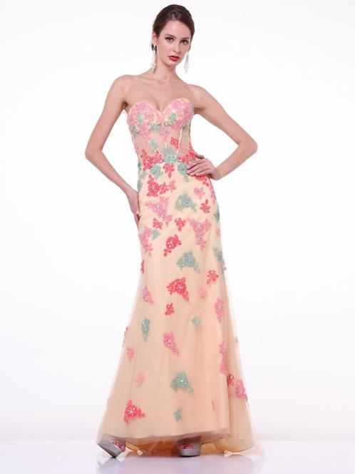 Chiffon Emrroidered Dress