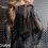 Thumbnail: JOVANI Gunmetal Fully Beaded Long Sleeve Short Dress 61636