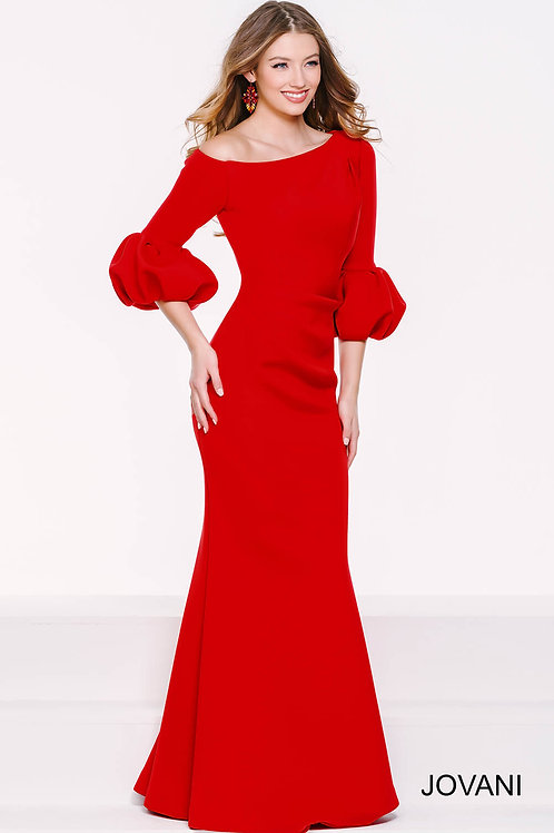 Red Off The Shoulder Scuba Dress 39739