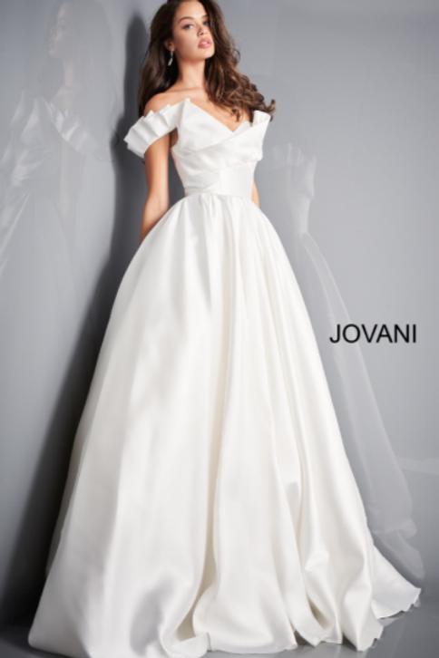 JB2500 Ivory Off the Shoulder A-Line Bridal Dress