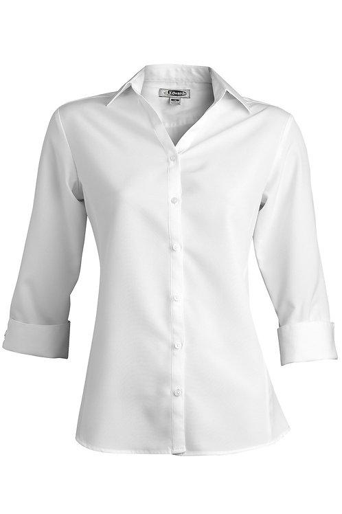 Women 3/4 Sleeves, Open Collar Shirt