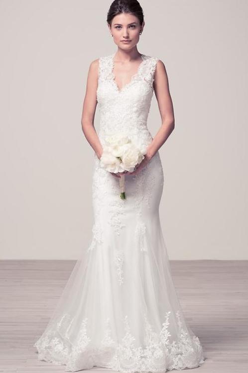 Mermaid Sleeveless Bridal Gown