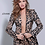 Thumbnail: Jovani 03840 Animal Print Two Piece Pant Suit