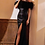 Thumbnail: Embellished Black Feather Gown