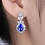 Thumbnail: Mignon Manley Diamonds & Natural Blue Tanzanite 14kt White Gold Earrings