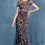 Thumbnail: Andrea & Leo Cap Sleeve Layered Lace Fit & Flair Gown