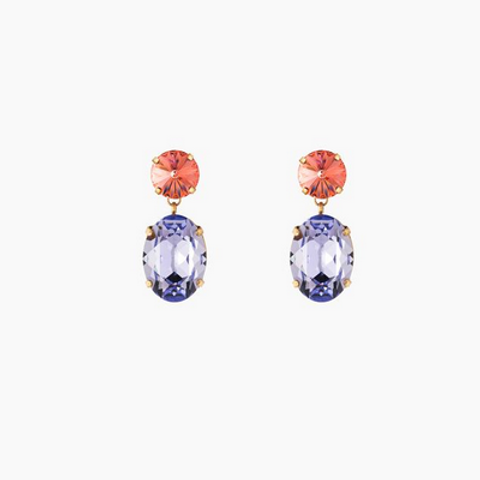 Swarovski Crystals Tanzanite Earrings
