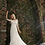 Thumbnail: Three-Quarter Sleeve Floral Lace Wedding Gown