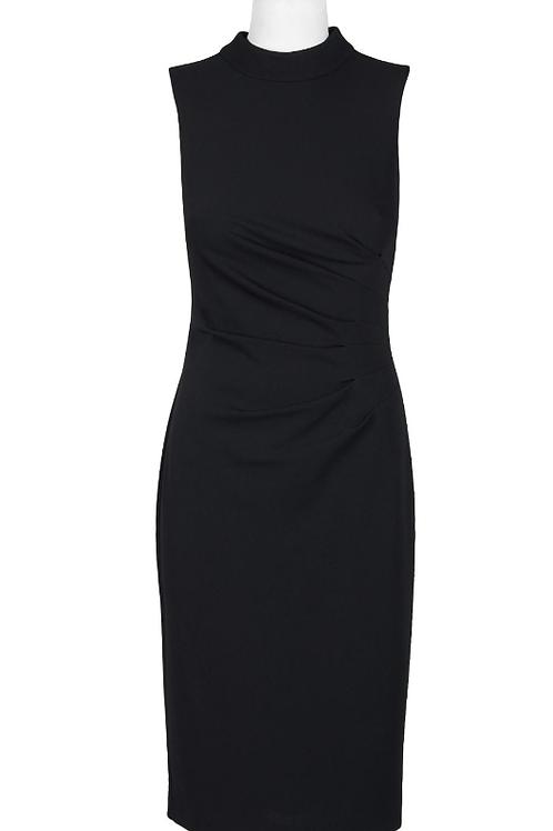 Adrianna Papell High Neck Sleeveless Crepe Dress