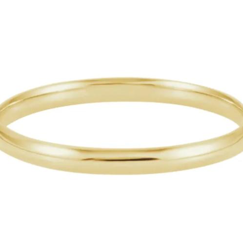 14K Yellow 6.5 mm Hinged Bangle Bracelet
