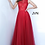 Thumbnail: JVN3896  Burgundy Sleeveless Embroidered Sheer Bodice Dress
