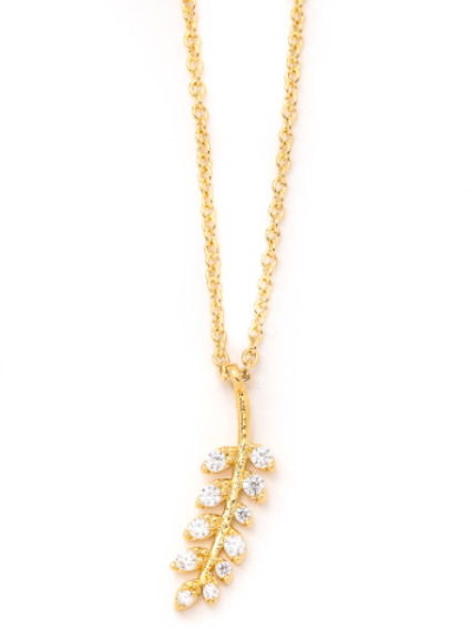 "18"" Chic Dainty Leaf Necklace"
