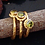 Thumbnail: Peridot 24k Yellow Gold Plated Over Sterling Silver Ring