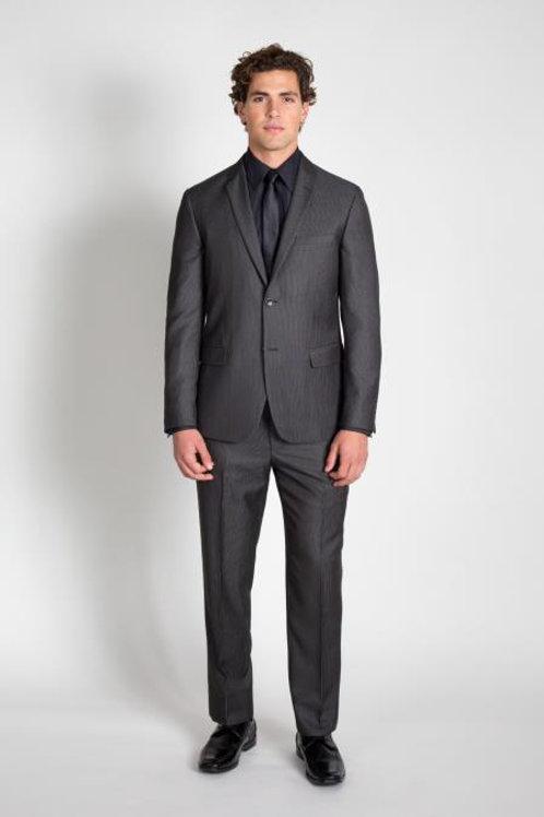 CharcoalPinstripe Two Piece Men's Suit