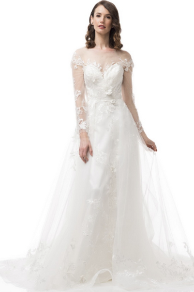 White Lace Bridal Gown