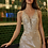 Thumbnail: Fitted Crystals Embellished Metallic Lace Gown