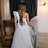 Thumbnail: Light Blue One Shoulder Taffeta Dress