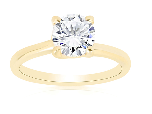 Mignon Manley 1 ct Round Diamond Solitaire Engagement Ring 14k Yellow Gold ((G-H