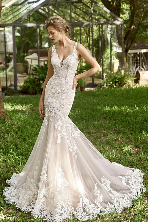 Mignon Manley OJ1729 Sonal OJO Satin Tulle Strapless Lace Bridal Gown