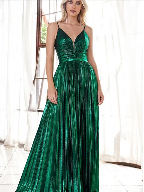 A-Line Metallic Lame' Dress