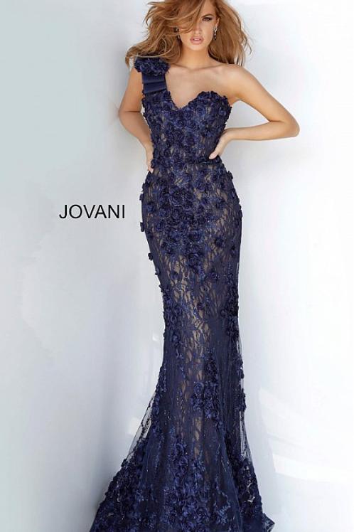 Jovani 3375 Embellished One Shoulder Dress