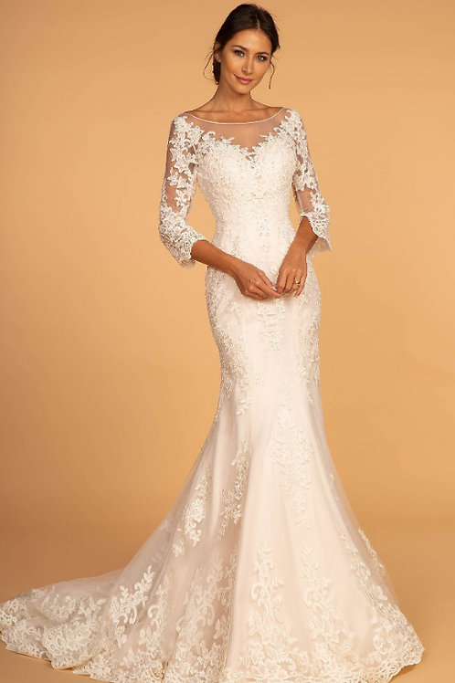 Classic Stunning Off White Bridal Gown