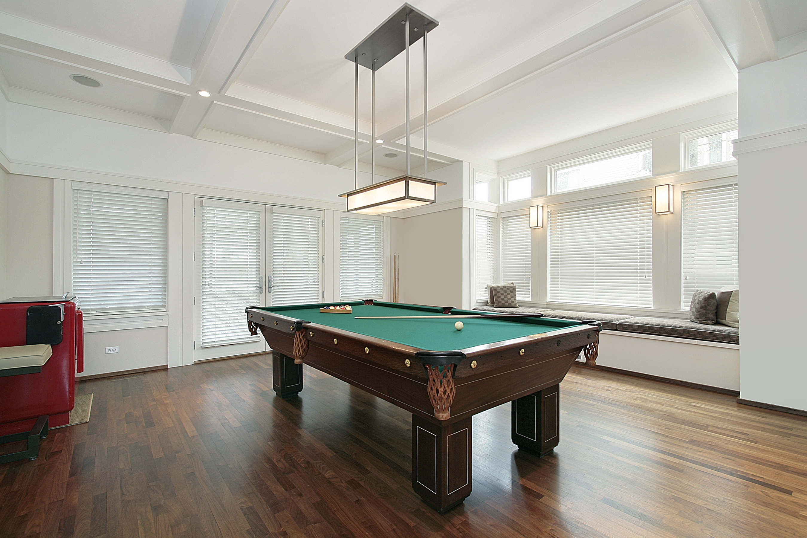 Family room with pool table