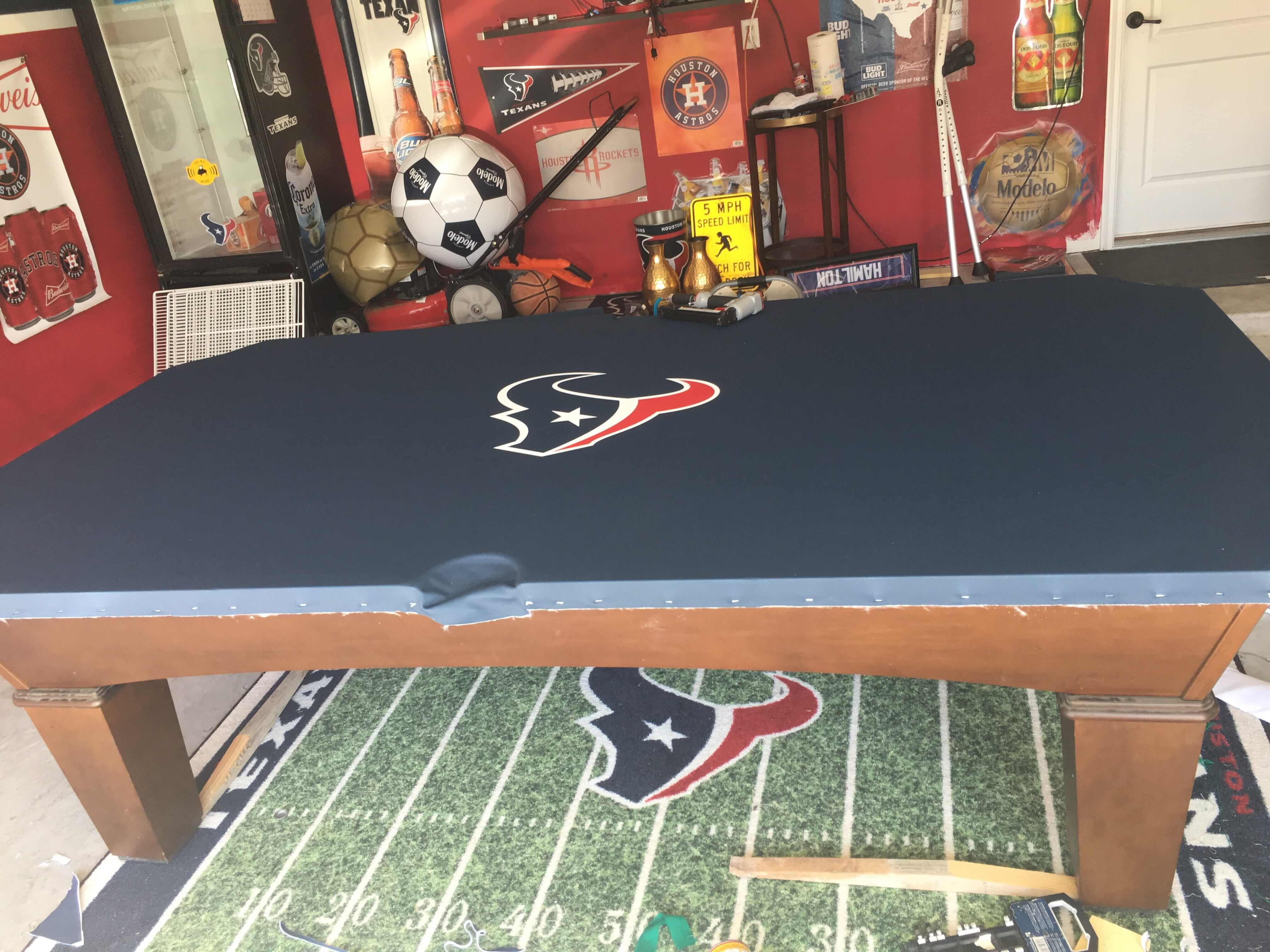 pool table refelt houston