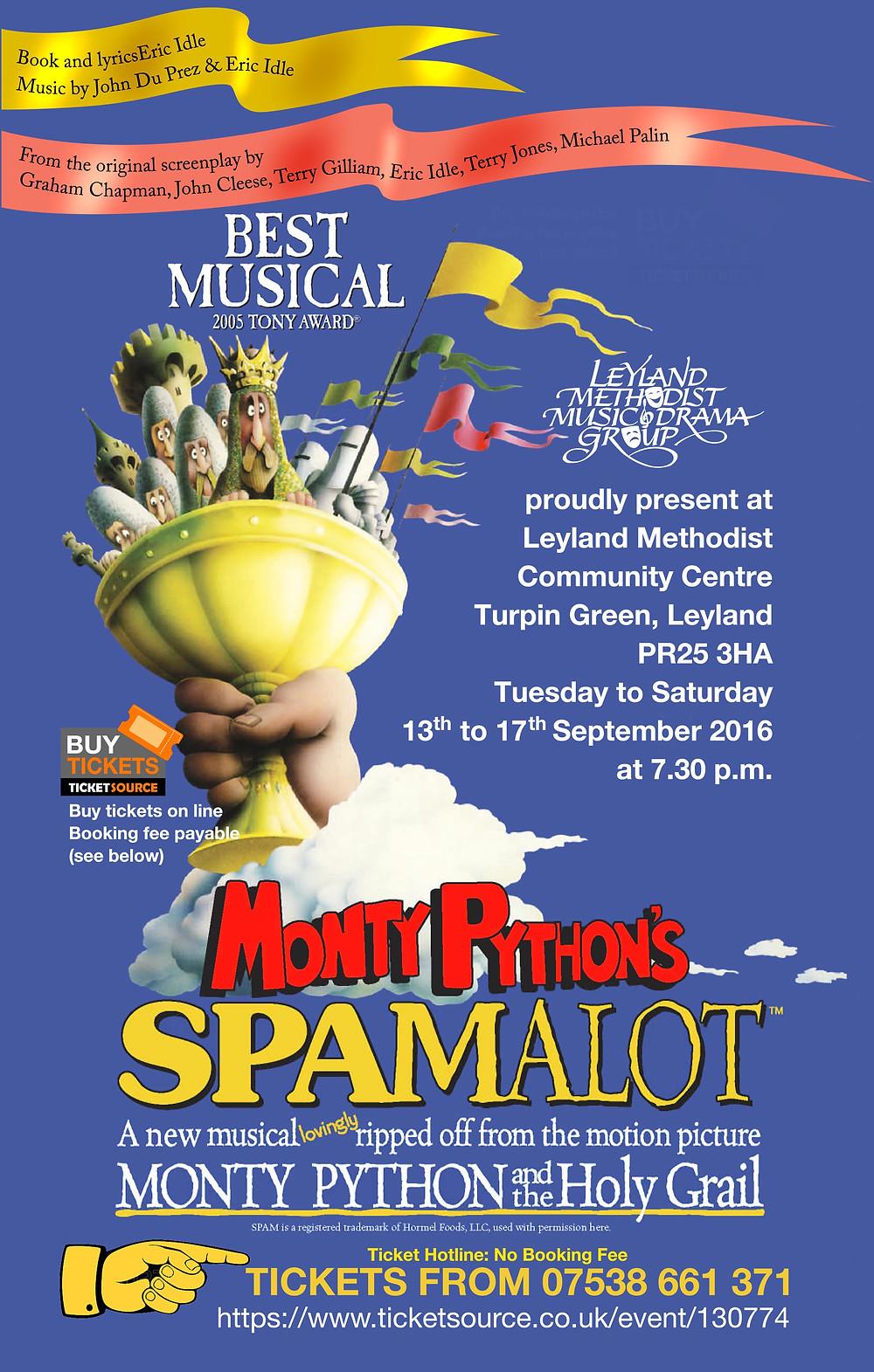 Spamalot - Leyland Methodist Music & Drama Group