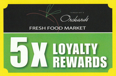 Orchards Fresh Food Market POS Signage