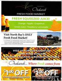 Orchards Fresh Food Market Direct Mail Flyer Front