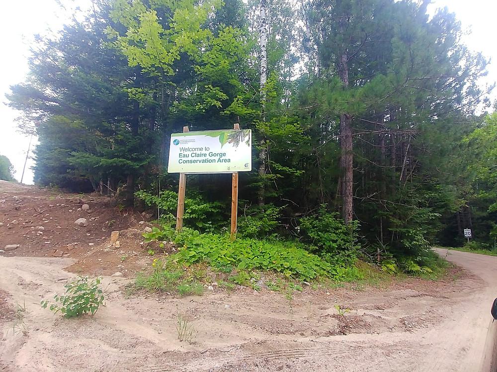 Eau Claire Gorge Conservation area entrance