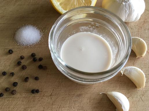 6 Ingredient Tahini Garlic Dressing