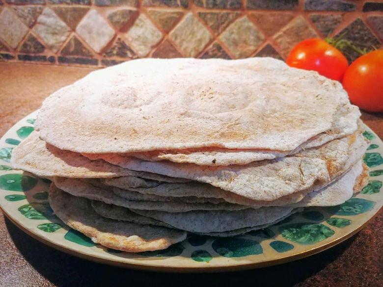 Homemade vegan tortilla recipe for Mexican night