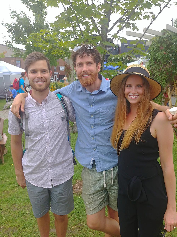 Brady and Katyryna with Mic the Vegan at Muskoka VegFest
