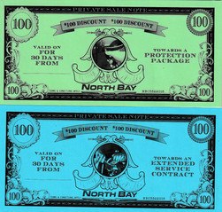 North Bay Chrysler Financial Incentive Faux Currency