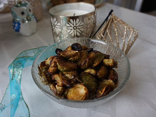 Tangy Maple Braised Brussels Sprouts Recipe