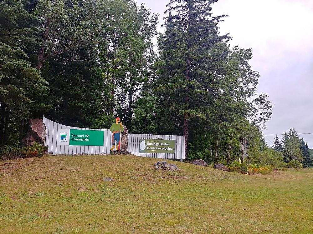 Samuel de Champlain Provincial Park and Canadian Ecology Centre entrance.