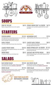 Beef n' Brand Lunch Menu Page 1