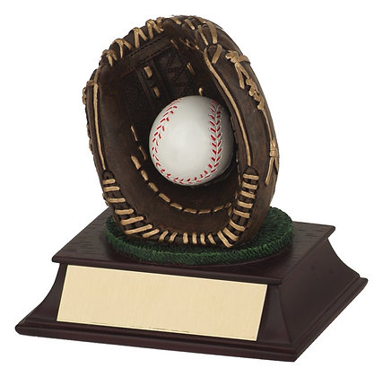 Baseball Glove & Ball Trophy
